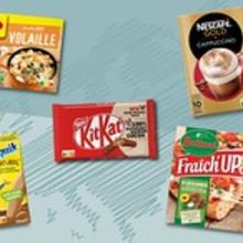 Selection of Nestlé products featuring Nutri-Score
